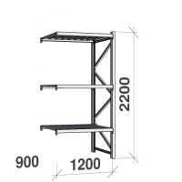 Extension bay 2200x1200x900 600kg/level,3 levels with steel decks