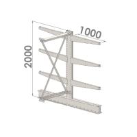 Grenställ följesektion 2000x1500x2x1000,6 x arm