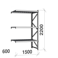 Extension bay 2200x1500x600 600kg/level,3 levels with steel decks