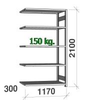 Laoriiul lisaosa 2100x1170x300 150kg/riiuliplaat,5 plaati