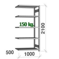 Laoriiul lisaosa 2100x1000x500 150kg/riiuliplaat,5 plaati