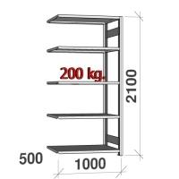 Laoriiul lisaosa 2100x1000x500 200kg/riiuliplaat,5 plaati