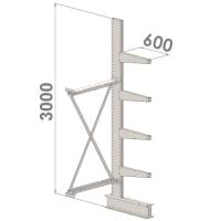 Grenställ följesektion 3000x1500x600,4 x arm