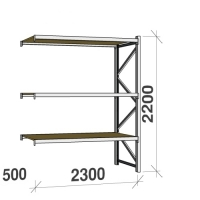 Extension bay 2200x2300x500 350kg/level,3 levels with chipboard