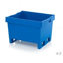 Plastkast kaaneta, 2 jalusega. 80x60x52 cm. Sinine