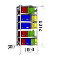 Starter bay 2100x1000x300 200kg/shelf,6 shelves