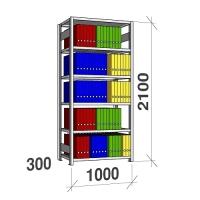 Starter bay 2100x1000x300 200kg/shelf,6 shelves