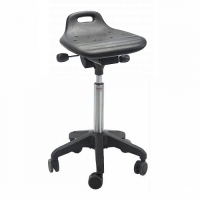 Saddle stool Omega Octopus PU w/castors