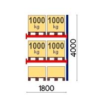 Add On Bay 4000x1800, 1000kg/pallet, 6 EUR pallets
