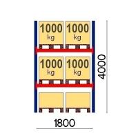 Starter Bay 4000x1800, 1000kg/pallet, 6 EUR pallets
