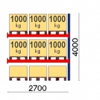 Add On Bay 4000x2700, 1000kg/pallet, 9 EUR pallets