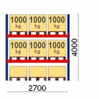 Starter Bay 4000x2700, 1000kg/pallet, 9 EUR pallets