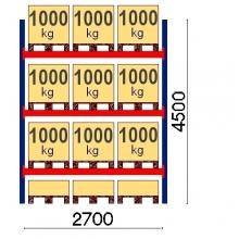 Starter bay 4500x2700 1000kg/pallet,12 EUR pallets OPTIMA