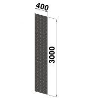 Side sheet 3000x400 perforated