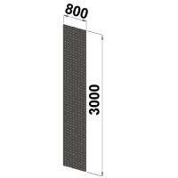 Küljeplekk 3000x800 perforeeritud