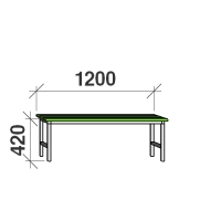 Bench 1200x290x420 metal