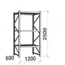 Laoriiul põhiosa 2500x1200x600 600kg/tasapind,3 tsinkplekk tasapinda