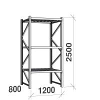 Starter bay 2500x1200x800 600kg/level,3 levels with steel decks