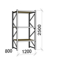 Starter bay 2500x1200x800 600kg/level,3 levels with chipboard