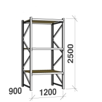 Starter bay 2500x1200x900 600kg/level,3 levels with chipboard