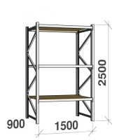 Starter bay 2500x1500x900 600kg/level,3 levels with chipboard