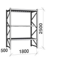 Starter bay 2500x1800x500 480kg/level,3 levels with steel decks