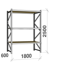 Starter bay 2500x1800x600 480kg/level,3 levels with chipboard