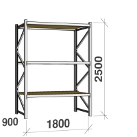 Starter bay 2500x1800x900 480kg/level,3 levels with chipboard