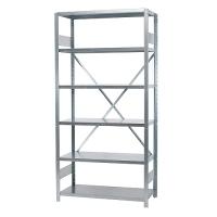 Starter bay 2100x1000x300, used, 6 shelves