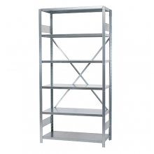 Starter bay 2500x1000x600, used, 6 shelves