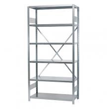 Starter bay 2500x1000x600, used, 6 shelves