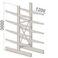 Grenställ startsektion 3000x1500x2x1200,16 x arm