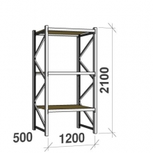 Starter bay 2100x1200x500 600kg/level,3 levels with chipboard