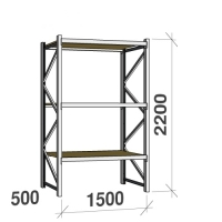 Starter bay 2200x1500x500 600kg/level,3 levels with chipboard