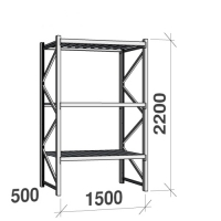 Starter bay 2200x1500x500 600kg/level,3 levels with steel decks