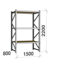 Starter bay 2200x1500x800 600kg/level,3 levels with chipboard