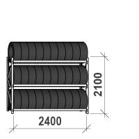 Rehviriiul, põhiosa 2100x2400x500, 3 korrust, 300kg/tasapind