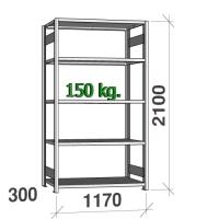 Laoriiul põhiosa 2100x1170x300 150kg/riiuliplaat.5 plaati