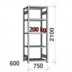 Starter bay 2100x750x600 200kg/shelf,5 shelves