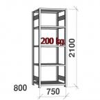 Starter bay 2100x750x800 200kg/shelf,5 shelves
