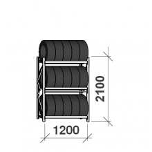 Rehviriiul, põhiosa 2100x1200x500, 3 korrust, 600kg/tasapind