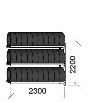 Rehviriiul lisaosa 2200x2300x500,3 korrust