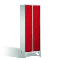 4-tier locker, 8 doors, 1850x610x500 mm