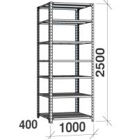 Metallriiul 2500x1000x400, 7 plaati, 120kg/plaat, hall