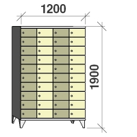 Sektsioonkapp, 40 ust, 1900x1200x545 mm