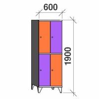 Sektsioonkapp, 4 ust, 1900x600x545 mm