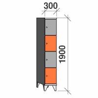 Sektsioonkapp, 4 ust, 1900x300x545 mm