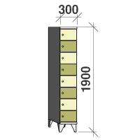 Sektsioonkapp, 8 ust, 1900x300x545 mm