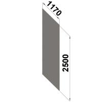 Back sheet panel 2500x1170