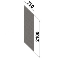 Perf.back sheet metal 2100x750 zn